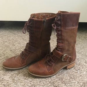 Timberland leather combat boots